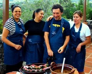 Ana and Guests Sylvia Jules and Olivia